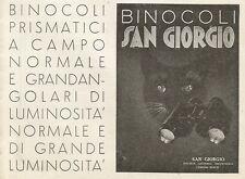 Y0159 Binocoli San Giorgio - Genova Sestri - Pubblicità 1937 - Advertising