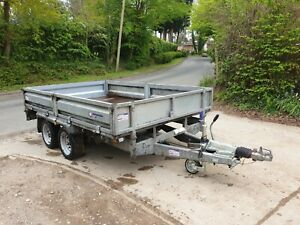 2018 Indespension FTL35106 Twin Axle 10' x 6' Drop Side 3500kg Plant Trailer