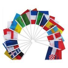 Banderas de mano del mundo campestre con postes Bandera pequena de 32 paises PB