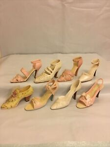 8 Collectible Resin Miniature Shoe Figurines