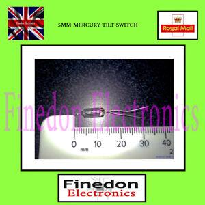 Glass 5mm Mercury Switch Angle Tilt Switches UK Seller