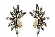 Tova Sparkling Swarovski Crystals Earrings 14-K Gold Plated