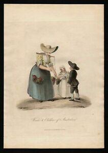 1817 - Amsterdam Holland Nederland Aquatinta costumes Trachten gravure