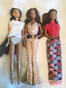 Black & Native American vintage Barbies lot of 3