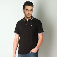 Gio Gio Black Pique Size Small Men's Polo Shirt T-Shirt Top