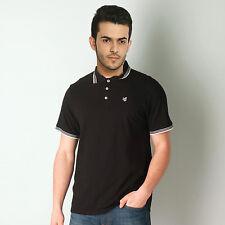 Gio Gio Talla Pequeña Negra Camiseta Camisa Polo Piqué