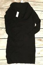 Black ANN TAYLOR Loft Cowlneck Small Soft Flare Sweater Dress $89