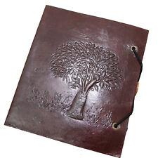 Lederbuch Kladde Notizbuch Tagebuch 15 x 13 cm Buch Leder Tree  Lebensbaum PL 2