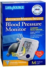 LifeSource Advanced Blood Pressure Monitor Manual Inflate UA-705V 1 Each