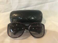 """CHANEL """"CC"""" LOGO SUNGLASSES Burgundy Red Bakelite with original quilted hardcase"""