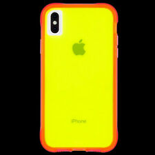 Case-Mate Tough Clear Protective Case for iPhone XS Max - Yellow/Pink Neon