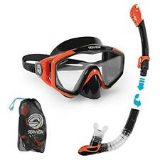New listing Seaview 180° Kradan Snorkel Wide View Tempered Glass Diving Snorkel Mask, Sunset