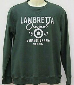 Lambretta Mens Gents Sweatshirt Crew Neck Pulover Sweater Size Large Green