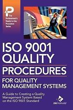 Iso 9001 Quality Procedures For Quality Management Systems: By Daniel J Frawl...