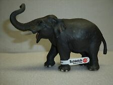 Retired Schleich Wild Life Series - Indian Male Elephant - Hand Painted Figure
