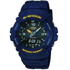 Casio Gents G-Shock Antimagnetic Alarm Chronograph Watch G-100-2BVMUR
