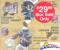 2008 Upper Deck Heroes Football MASSIVE Factory Sealed 24 Pack Retail Box-JERSEY