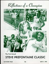 >June 7, 1975 STEVE PREFONTAINE The 1st PRE CLASSIC PROGRAM...Rare & Holy Grail!