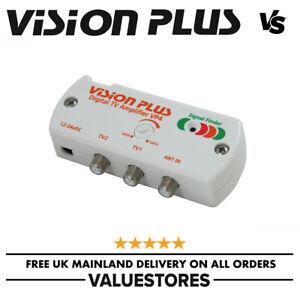 Vision Plus VP4 12-24v Caravan / Motorhome TV Aerial Signal Booster Digital Amp