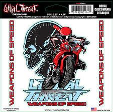 Lethal Threat Sticker Weapons of Speed Kawasaki,Yamaha,Suzuki,Honda
