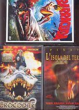 DVD Lotto 07 = Crocodile 2 – L'isola del terrore – Barracuda - ORIGINALI