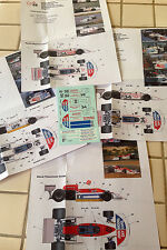Decals March 761 1976 Formula 1 1/43rd scale for Tameo Kits by Cigale 43 CDS002