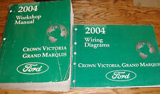 2004 Ford Crown Victoria Mercury Grand Marquis Shop Service Manual + Wiring Set