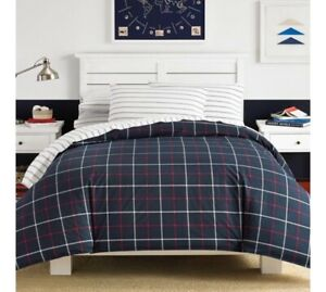 Nautica, 5 PC Tillington Comforter Sheet Set 100% Cotton, Navy Twin XL