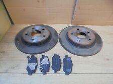 TOYOTA AURIS 2011 1.4 D4D DIESEL REAR SOLID BRAKE DISCS WITH PADS