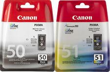CANON PG 50 + CL 51 MP150 MP160 MP170 MP180 MP450 MP460