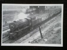 POSTCARD NINER CLASS LOCO NO 90707 AT MIRFIELD POWER DEPOT 1966