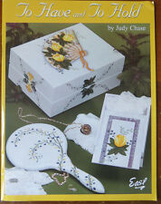 JUDY CHASE PAINT  DECORATIVE ART BOOK TO HAVE AND TO HOLD GIRL & BOY MOMENTO BOX