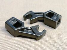 x2 Lego Minifig Pearl Dark Gray Arm Mechanical Exo-Force / Bionicle / Droid