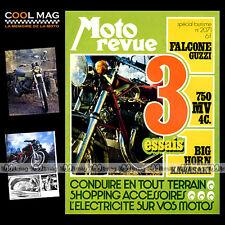 MOTO REVUE N°2071 MV AGUSTA 750 ★ KAWASAKI 350 BIG HORN ★ GUZZI 500 FALCONE 1972