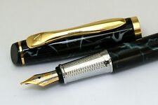 LANBITOU 707 Black Marbly Medium Nib Fountain Pen NEW