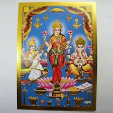 Altarbild Göttin Lakshmi, Prägedruck Indien Hinduismus  Bild Guru Om Puja 12