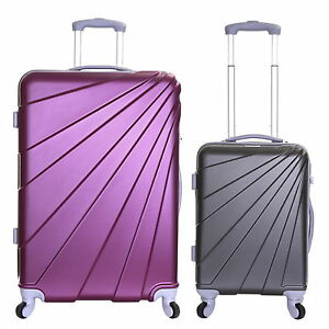 Extra Large XL Small Cabin 4 Wheels Hard Trolley Hand Luggage Suitcase Bag Case