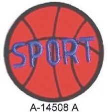 Orange Basketball Sport Ball embroidery patch