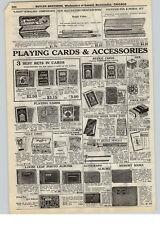 1928 PAPER AD Playing Poker Bridge Cards Uncle Sam Marvel Steamboat Lin-Bridge