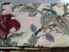 """Burgundy/Wine Multicolored Floral Fabric Tablecloth 60"""" x 84""""/Oblong"""