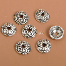 50pcs Tibetan Silver charm Spacer bead beads cap fit bracelet 7MM  B3533