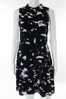 Proenza Schouler Multi-Color Silk Abstract Tiered Dress Size 4 $1150 New 109093