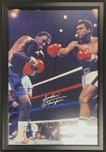 Joe Frazier vs. Muhammad Ali Signed Framed 20x30 Photo Autographed SSG COA