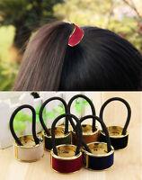 1pc Punk Rock Metal Circle Ring Hair Cuff Wrap Ponytail Holder Band More Style