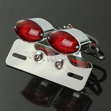 Chorme LED Motorbike Tail Brake Turn Light Indicator Plate Running Rear Light