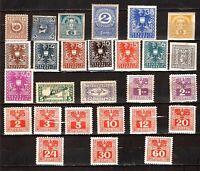 PIM681 AUTRICHE 27 timbres neufs :les emblèmes du pays
