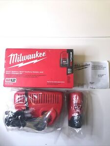 Milwaukee 50-59-2404 M12 Li-ion Battery, M12 Battery Holder and M12 Charger Kit