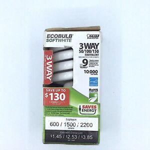 Feit 12 21 & 32 Watt Daylight Compact Fluorescent 3 Way Light Bulb ESL50-150T-E