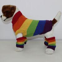 PRINTED INSTRUCTIONS -RAINBOW DOG COAT & LEGWARMERS CIRCULAR KNITTING PATTERN