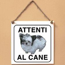 Mi-Ki 1 Attenti al cane Targa cane cartello ceramic tiles